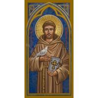 "ST. FRANCIS OF ASSISI - MEDIUM  3 1/2"" x 7"""