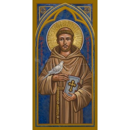 "ST. FRANCIS OF ASSISI - MEDIUM  3 1/2"" x 7"""
