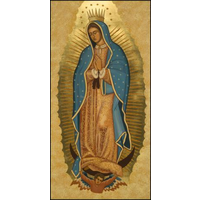 "OUR LADY OF GUADALUPE - MEDIUM  3 1/2""x 7"""