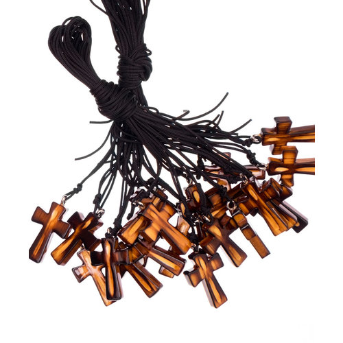 Wood Cross Necklace in Bundles of 20