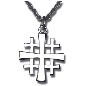 NECKLACE JERUSALEM CROSS STERLING