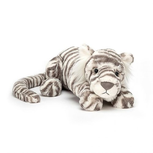 Sacha Snow Tiger Medium by Jellycat