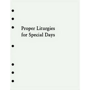 PROP LITURGIES SPECIAL DAYS  ALTAR EDITION