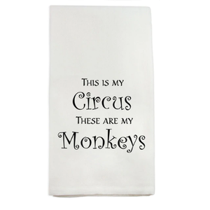 French Graffiti Dish Towel This is My Circus