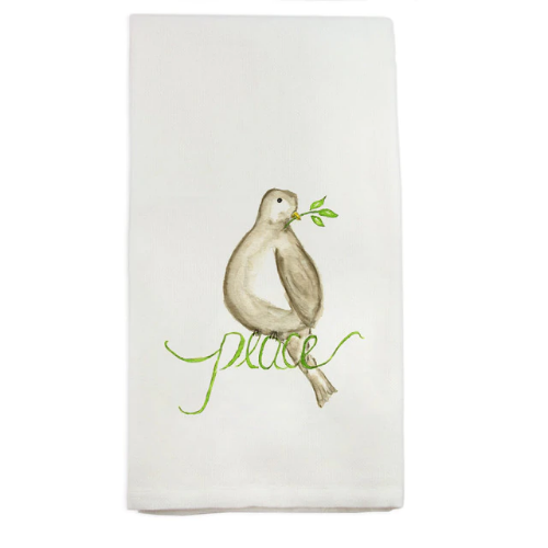 French Graffiti Towel Peace Bird