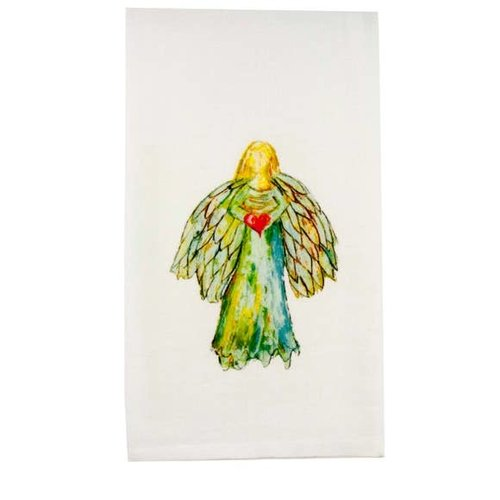French Graffiti Colorful Angel with Heart