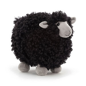 JELLYCAT ROLBIE SHEEP SMALL BLACK