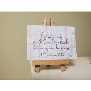 WILKERSON WORKS Mini Scriptures of Strength on Easel by Leah Wilkerson