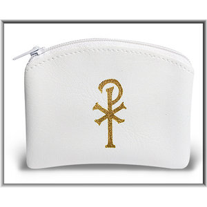 Rosary Pouch White