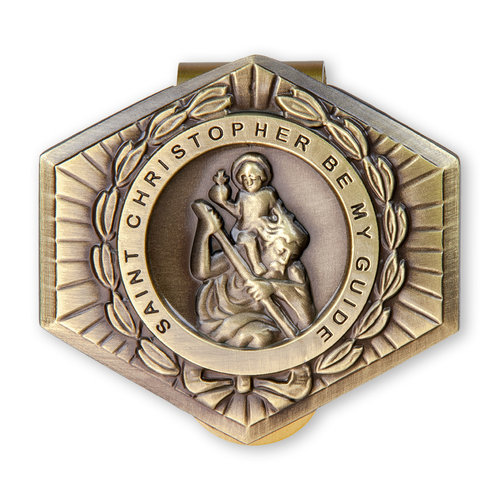 VISOR CLIP ST CHRISTOPHER BE MY GUIDE