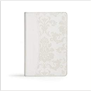 BRIDE'S BIBLE, WHITE LEATHERTOUCH, CBS