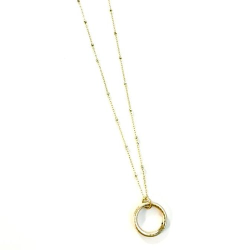 Dainty Vibe Necklace Gold Filled Hoop by Erin Gray