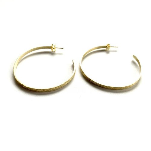 "Earrings Hoop Gold over Sterling 2"" by ERIN GRAY"