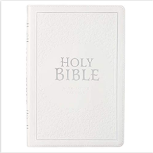 WHITE THINLINE WEDDING BIBLE, KJV