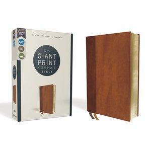Giant Print Compact Bible NIV Brown New International Version