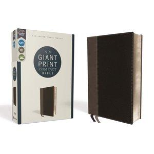 Giant Print Compact Bible NIV Black New International Version