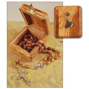 ROSARY & BOX 1ST Communion Olive Wood