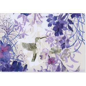 NOTE CARDS - Hummingbird Purple Blooms by Peter Pauper Press