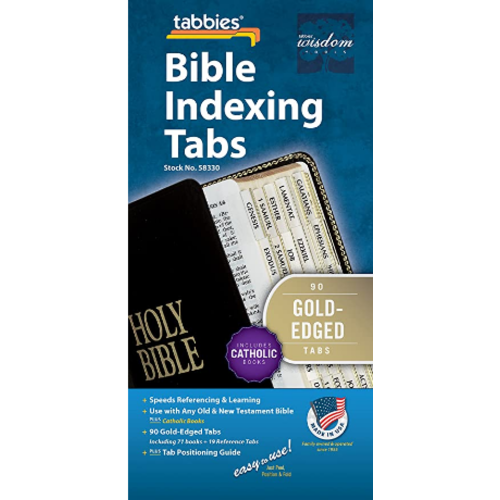 TABBIES Bible Tab-Cath: Classic Catholic Gold Bible Tabs