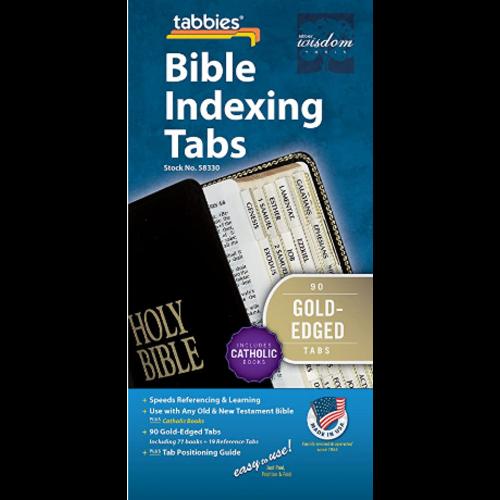 TABBIES Bible Tab-Cath: Classic Catholic Gold Bible Tabs