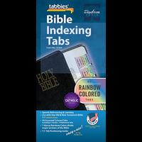 Bible Tab-Cath Old & NT: Rainbow Catholic Bible Tabs
