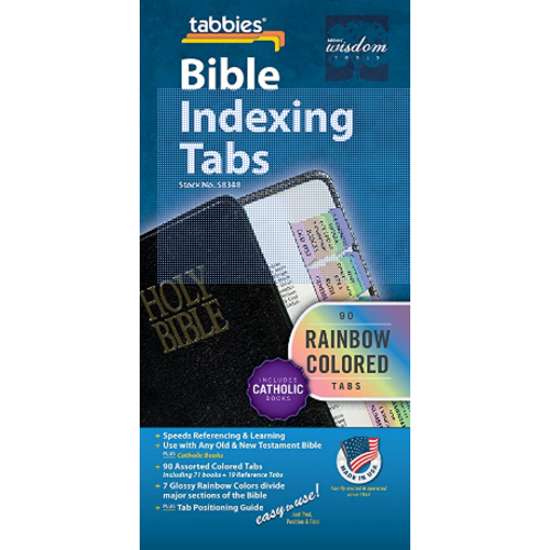 TABBIES Bible Tab-Cath Old & NT: Rainbow Catholic Bible Tabs