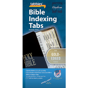 TABBIES Bible Tab-Protestant-Gld: Classic Gold-Edged Bible Tabs