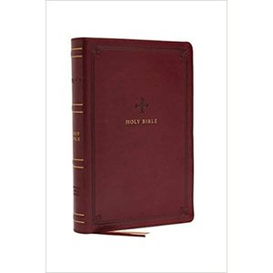Nrsv, Catholic Bible, Standard Large Print, Leathersoft, Red, Comfort Print