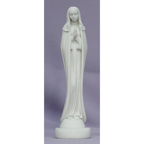 "PRAYING MADONNA STATUE 6"" in White Alabaster and Resin"