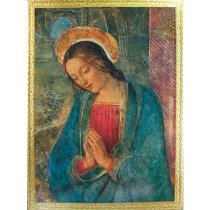 "PRAYING VIRGIN  by PINTORICCHIO Florintine Plaque 11.5""x15.5"""