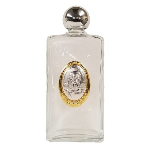 """HOLY WATER BOTTLE- PADRE PIO-Large 5""""x2"""""""