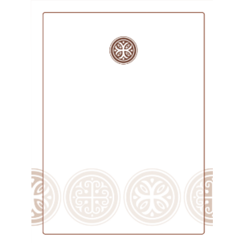 Celtic Cross Bookplate-Blank