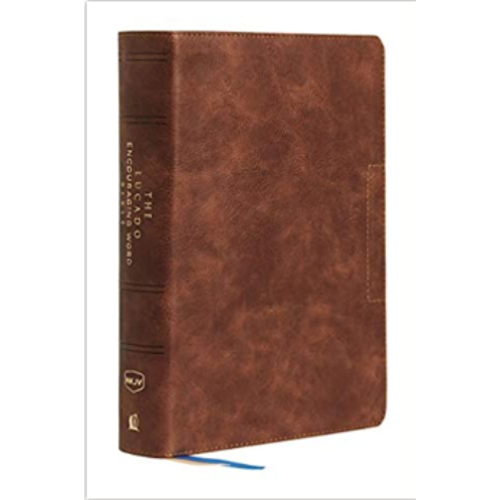 Lucado Encouraging Word Bible, Brown, Leathersoft, Comfort Print: Holy Bible, New King James Version