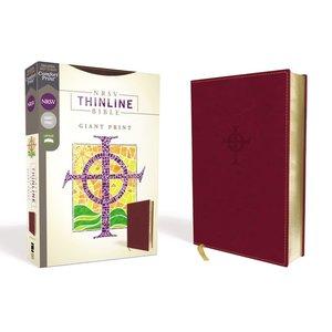 Nrsv, Thinline Bible, Giant Print, Leathersoft, Burgundy, Comfort Print