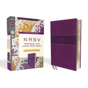 NRSV, PERSONAL SIZE LARGE PRINT BIBLE WITH APOCRYPHA, LEATHERSOFT, PURPLE, COMFORT PRINT