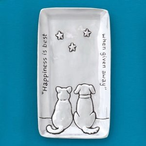 SMALL TRAY PEWTER Happiness is Best from Basic Spirit