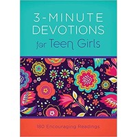 3-MINUTE DEVOTIONS FOR TEEN GIRLS by APRIL FRAZIER
