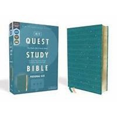 Niv, Quest Study Bible, Personal Size, Leathersoft, Teal, Comfort Print