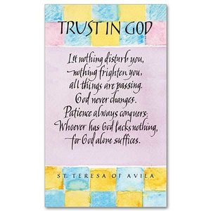TRUST IN GOD PRAYER CARD