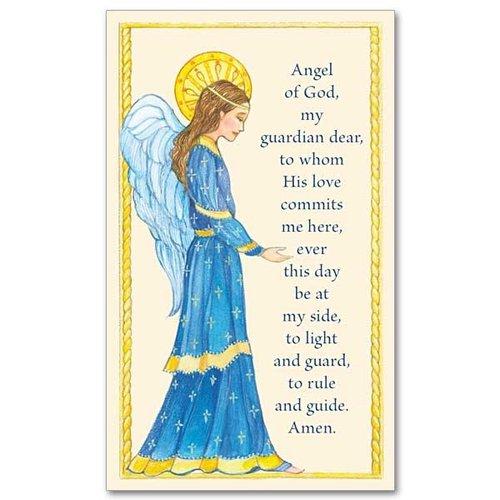ANGEL OF GOD PRAYER CARD