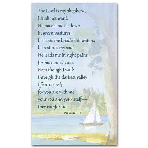 LORD IS MY SHEPHERD PRAYER CARD