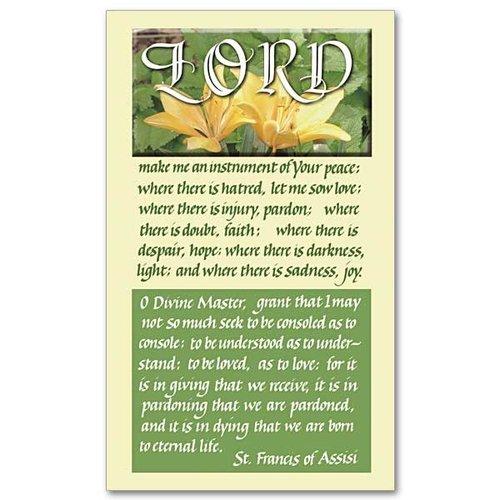 ST. FRANCIS PRAYER CARD