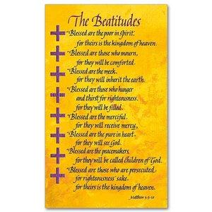 BEATITUDES PRAYER CARD