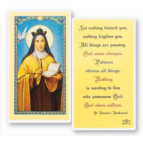 ST TERESA'S BOOKMARK PRAYER CARD