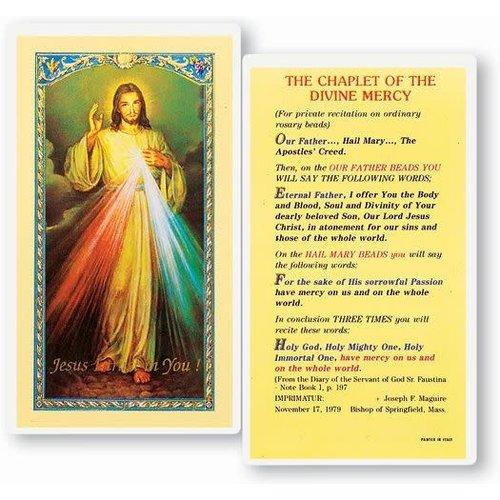 CHAPLET OF THE DIVINE MERCY -PRAYER CARD