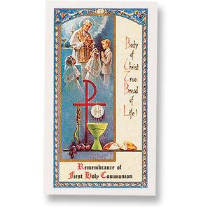 1ST COMMUNION BODY OF CHRIST PRAYER CARD