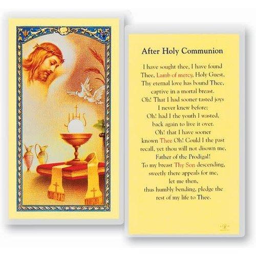 AFTER COMMUNION PRAYER CARD