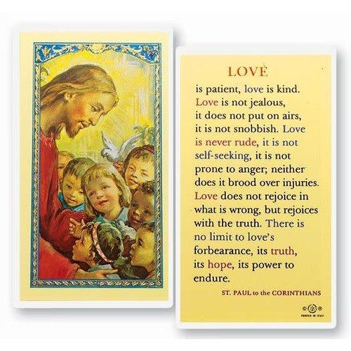 LOVE IS PATIENT PRAYER CARD