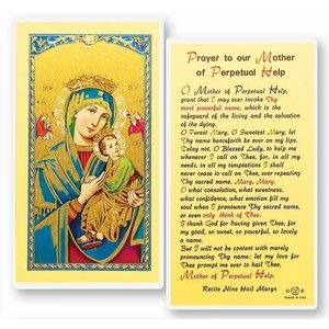 OUR MOTHER OF PERPETUAL HELP PRAYER CARD