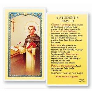 STUDENT'S PRAYER PRAYER CARD